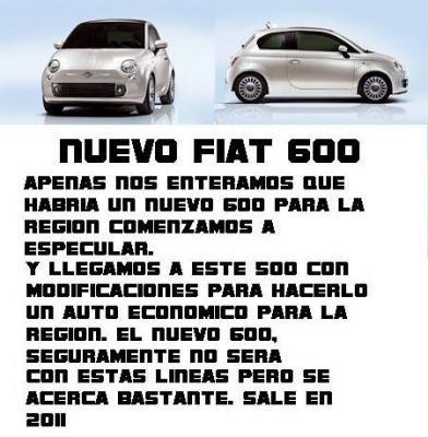 HABRA UN NUEVO FIAT 600